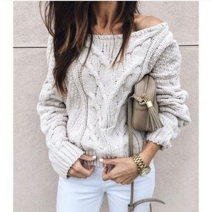Free People•Sticks and Stones Chunky Knit Pullover
